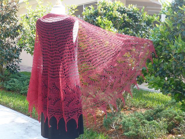 Sweet Lily Knit Lace Shawl Pattern