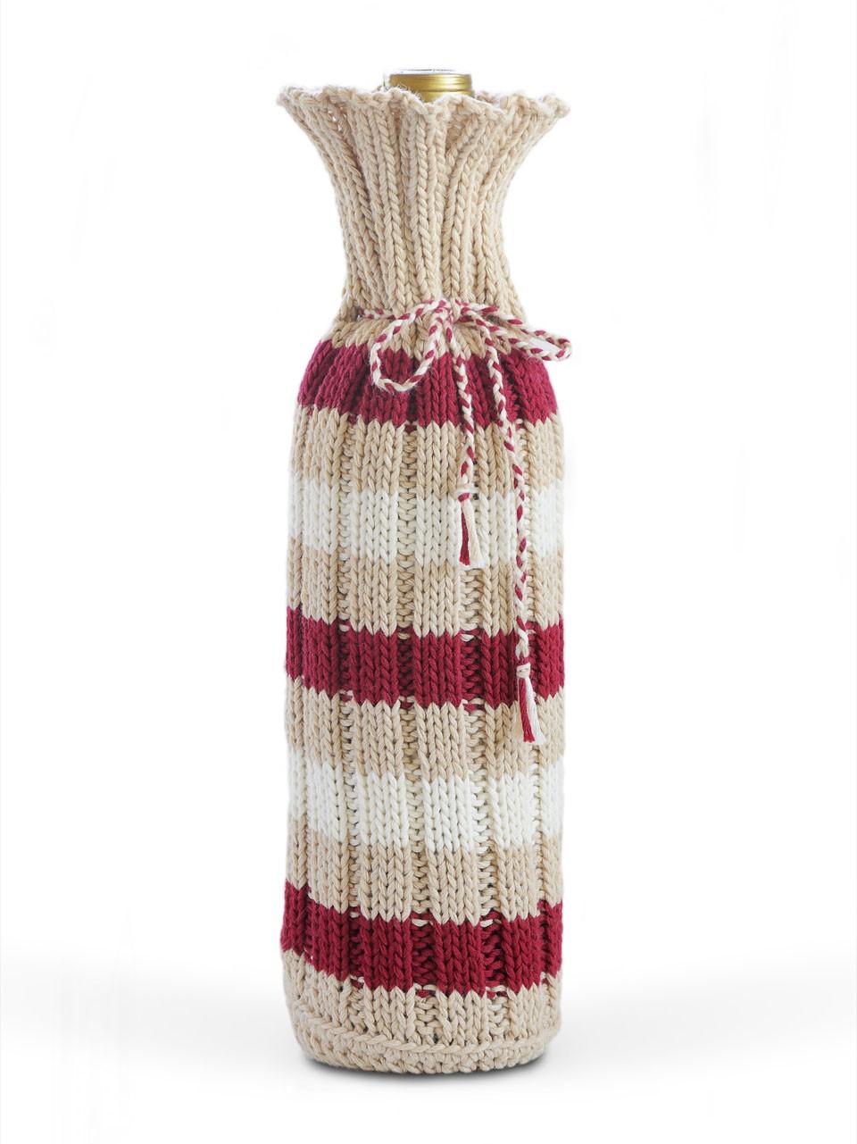 Wine Bottle Cover Knitting Pattern