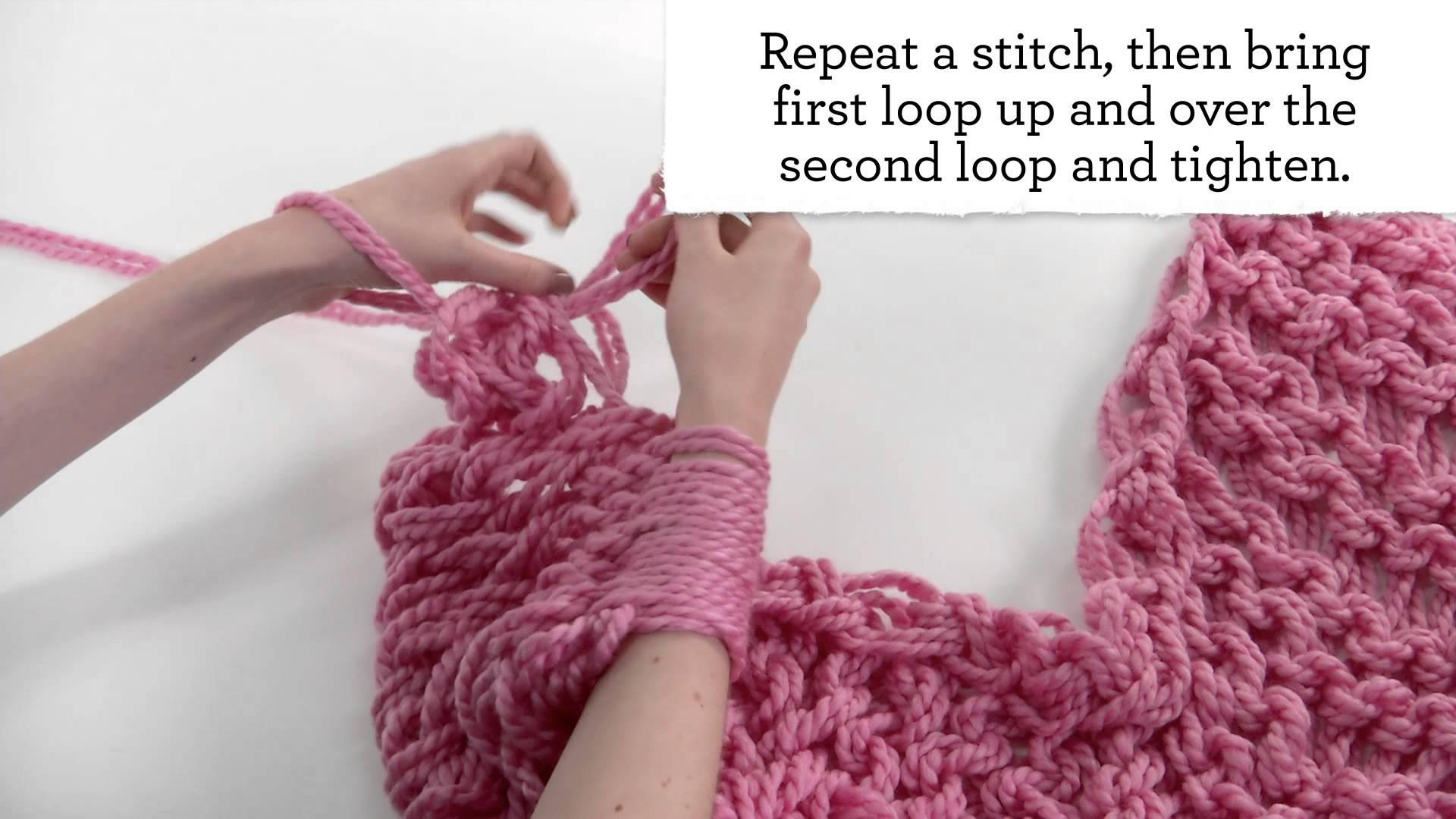 Arm Knit Chunky Cowl Pattern
