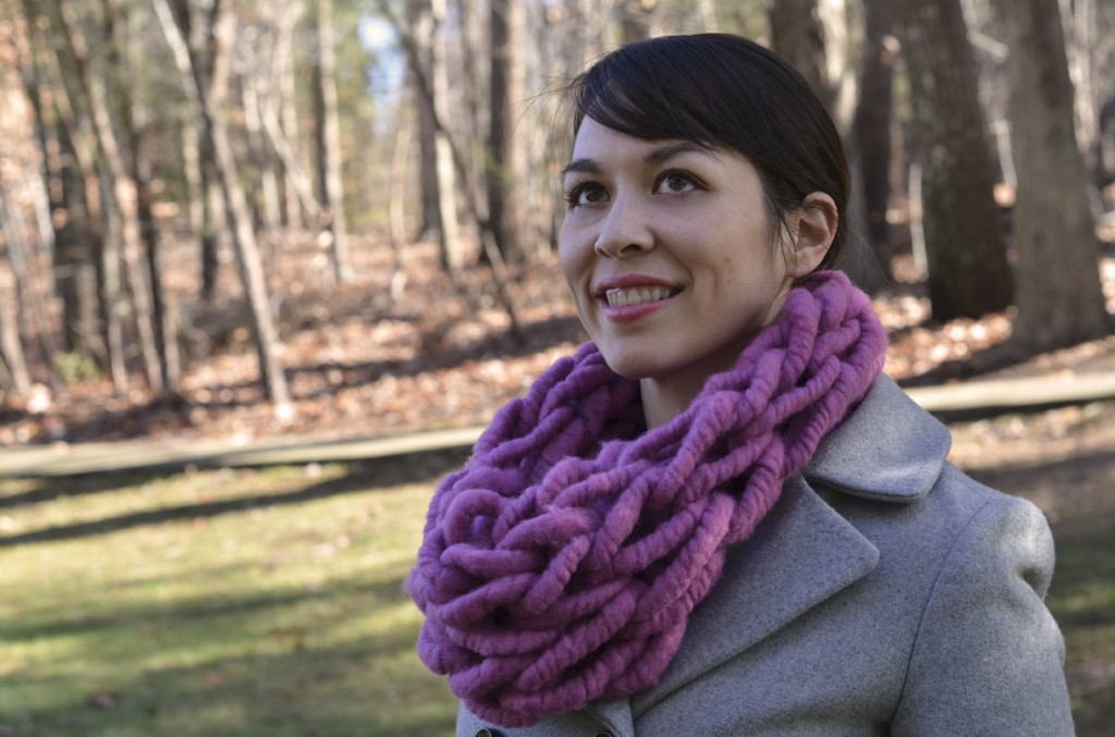 Arm Knit Scarf Pattern Image