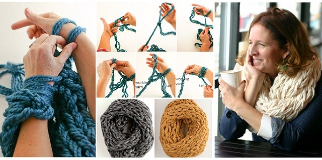Arm Knitting Blanket Step By Step