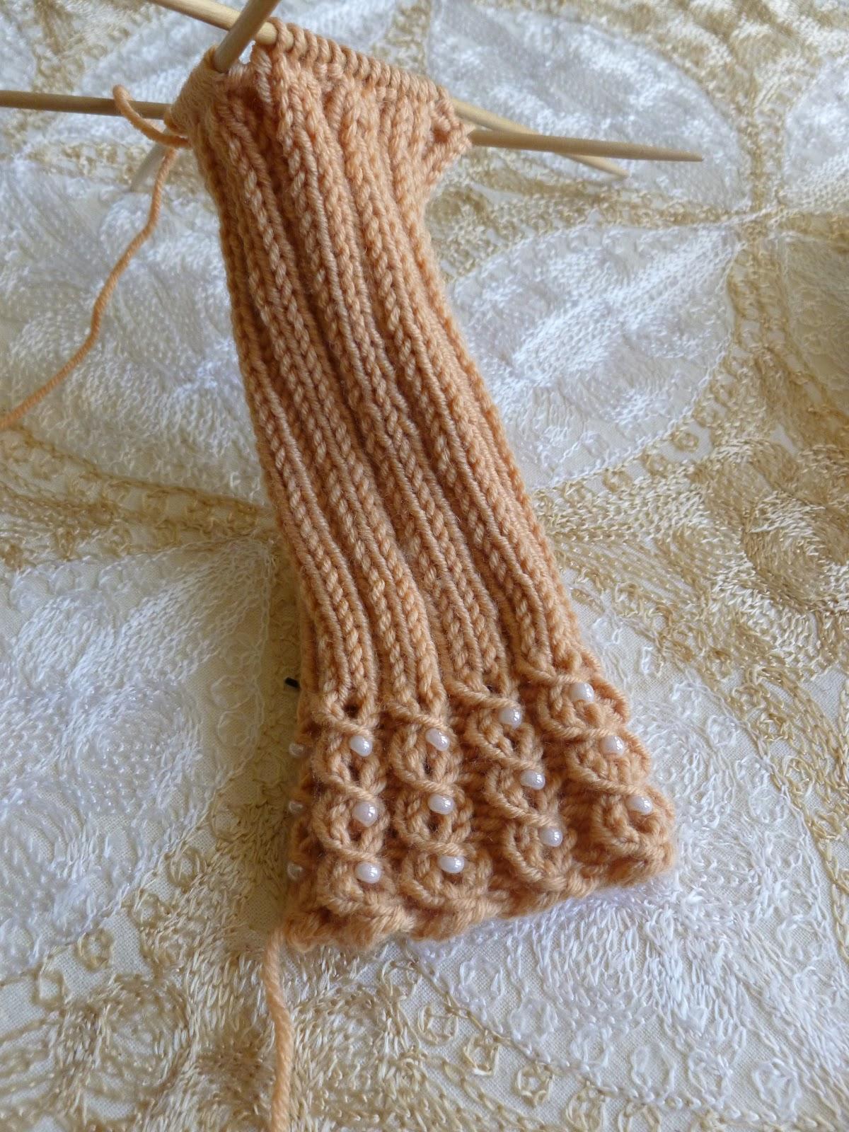 Beaded Wrist Warmer Knitting Pattern