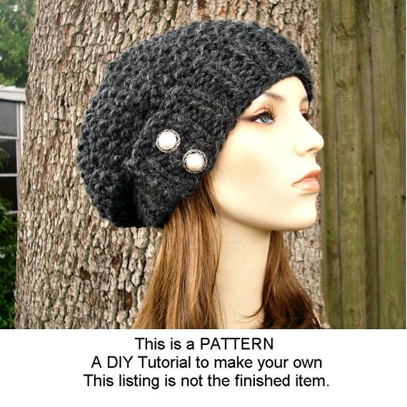 Black Knit Beanie Patterns