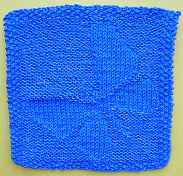 Butterfly Face Cloth Knitting Pattern