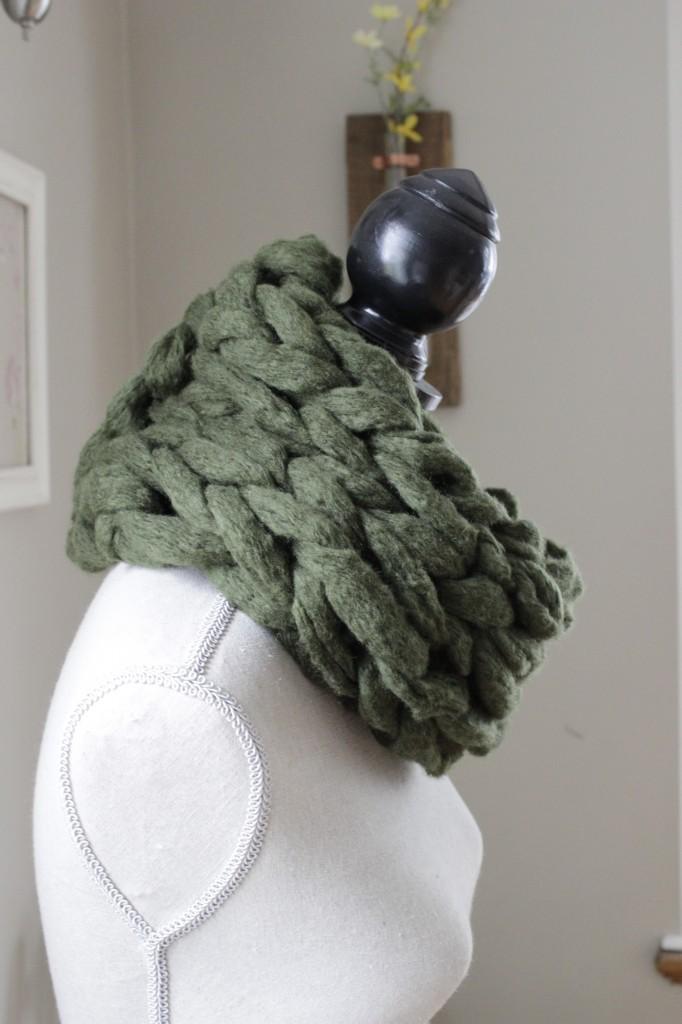 DIY Arm Scarf Knitting Pattern