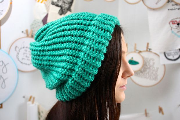Free Loom Knitting Slouchy Hat Patterns