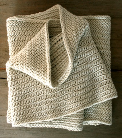 Herringbone Cowl Knitting Pattern