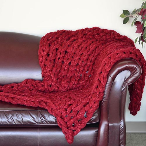 Knitted Arm Blanket Pattern