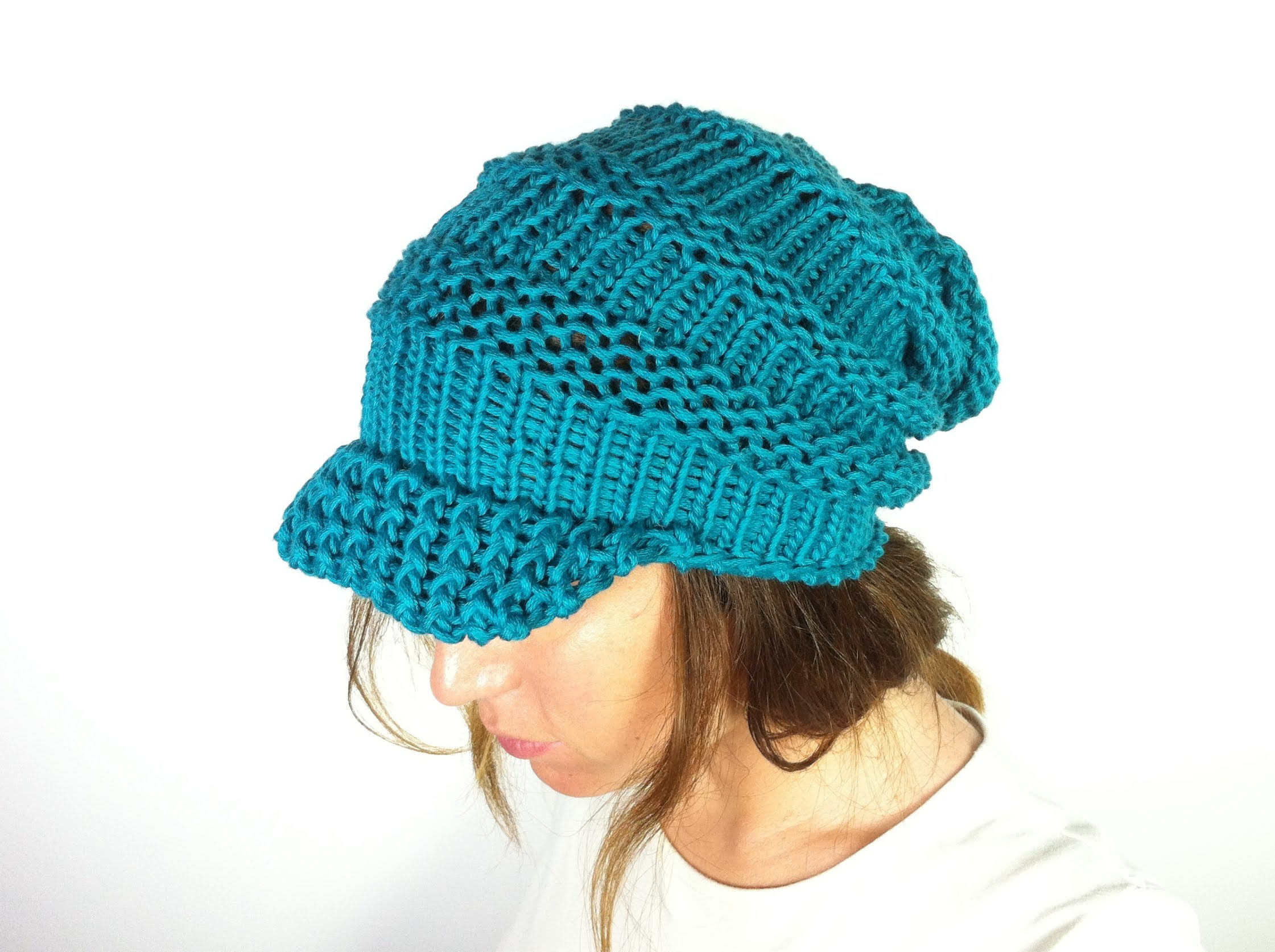 Loom Knit Slouchy Hat Patterns Instruction