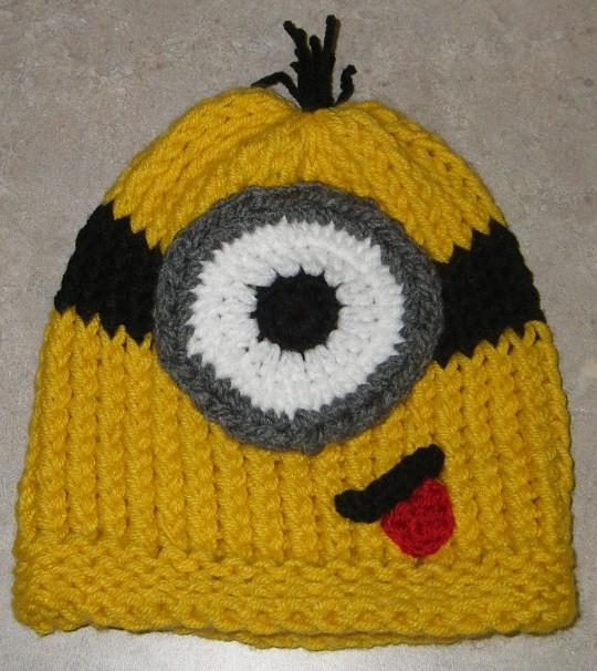 Minion Beanie Hat Knitting Pattern