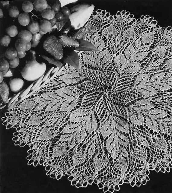 Pine Cone Knitted Doily Pattern