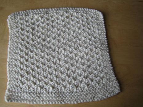 Seed Stitch Washcloth Knitting Pattern