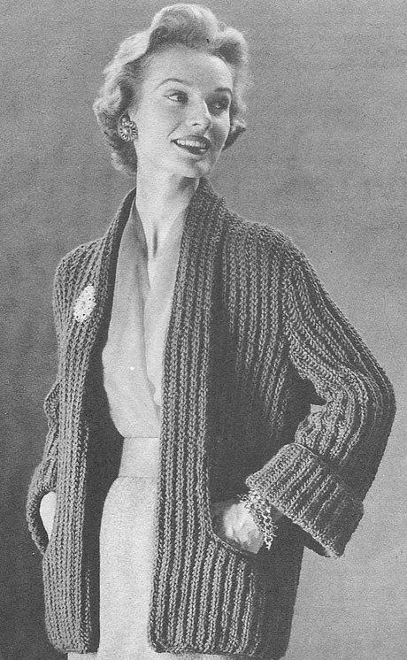 Vintage Coat Knitting Pattern