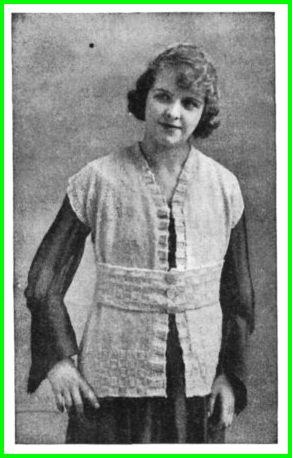 Vintage Knit Sleeveless Sweater Pattern