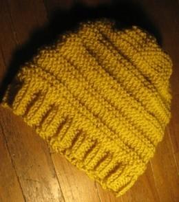 Yellow Knit Beanie Pattern