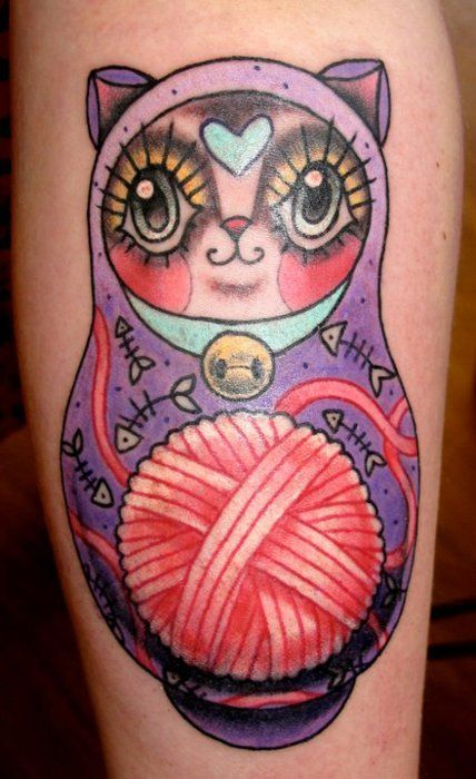 Cat-Knitting-Tattoo
